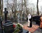 Святейший Патриарх Кирилл посетил Большеохтинское кладбище Санкт-Петербурга