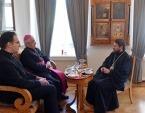 Митрополит Волоколамский Иларион встретился с Апостольским нунцием в Российской Федерации