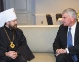 Митрополит Волоколамский Иларион встретился с президентом Евангелистской ассоциации Билли Грэма