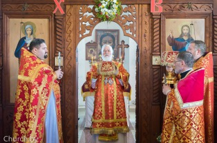 В субботу 4-й седмицы по Пасхе митрополит Павел совершил Литургию в Ильинском храме деревни Касынь
