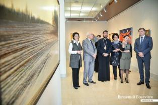 Епископ Бобруйский и Быховский Серафим принял участие в открытии выставки «Классика белорусской живописи» в Бобруйском художественном музее