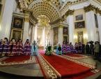 Предстоятель Русской Церкви совершил Литургию в Александро-Невской лавре