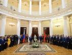 Святейшему Патриарху Кириллу вручен знак почетного гражданина Санкт-Петербурга