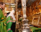 В канун праздника Святой Троицы Святейший Патриарх Кирилл совершил всенощное бдение в Троице-Сергиевой лавре