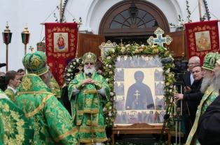 Патриарший Экзарх возглавил торжества по случаю дня памяти преподобной Евфросинии Полоцкой