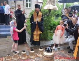 Освящены восемь колоколов для Михайловского храма в агрогородке Лошница
