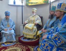 Патриарший Экзарх возглавил торжества по случаю праздника Марьиногорской иконы Божией Матери