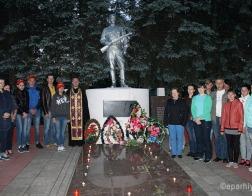 «Свечу памяти» зажгли в Гомельской епархии 22 июня в 4:00