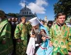 В день своего тезоименитства Блаженнейший митрополит Киевский Онуфрий в сослужении сонма архипастырей Украинской Православной Церкви совершил Литургию в Киево-Печерской лавре