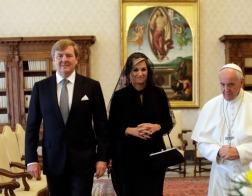 Папа Римский встретился с королем Нидерландов и передал ему в дар жезл Вильгельма I Оранского