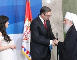 Патриарх Ириней и архиереи Сербской Православной Церкви приняли участие в торжествах по случаю инаугурации президента Сербии