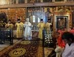 Святейший Патриарх Кирилл совершил всенощное бдение в Софийском соборе Великого Новгорода