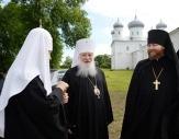 Святейший Патриарх Кирилл прибыл в Великий Новгород