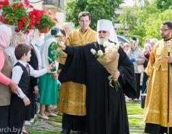 В праздник Рождества святого Иоанна Предтечи Патриарший Экзарх совершил Литургию в Иоанно-Предтеченском храме города Минска