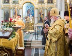 В канун Недели 5-й по Пятидесятнице митрополит Павел совершил всенощное бдение в Свято-Духовом кафедральном соборе города Минска