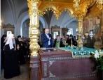 Президент России В.В. Путин посетил Валаамский монастырь