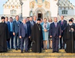 Состоялся прием по случаю визита Президента Республики Молдова от имени Патриаршего Экзарха всея Беларуси