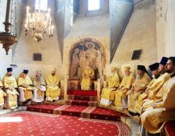 В день памяти святителя Филиппа, митрополита Московского, Святейший Патриарх Кирилл совершил Литургию в Успенском соборе Московского Кремля