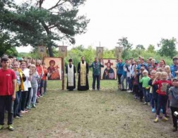 В скаутском лагере на берегу Немана состоялась миссионерская Литургия