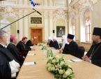 Святейший Патриарх Кирилл встретился в Санкт-Петербурге с делегацией Римско-Католической Церкви