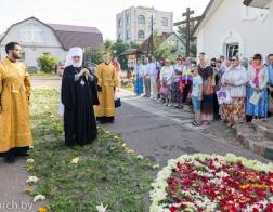 В день памяти равноапостольного князя Владимира Патриарший Экзарх возглавил литургию во Владимирском храме города Минска