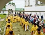 Предстоятель Русской Церкви совершил Литургию в Николо-Вяжищском ставропигиальном монастыре