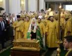 В День Крещения Руси Предстоятель Русской Церкви возглавил церковные торжества в Санкт-Петербурге