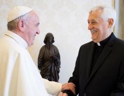Папа Римский Франциск посетил своих собратьев по Ордену Иезуитов