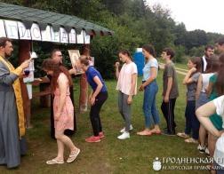 На берегу Августовского канала начал работу слет молодежи Гродненской епархии
