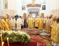 Патриарший Экзарх возглавил торжества в честь 300-летия со дня рождения святителя Георгия Могилевского