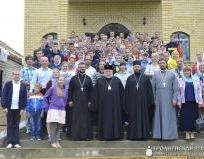 Архиепископ Артемий совершил литургию, за которой молились участники слета молодежи Гродненской епархии