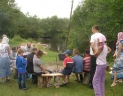 Епископ Лидский и Сморгонский Порфирий посетил детский палаточный лагерь