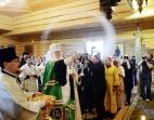 Святейший Патриарх Кирилл освятил Троицкий храм Линтульского подворья Константино-Еленинского монастыря Санкт-Петербургской епархии
