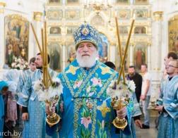 В канун праздника Минской иконы Божией Матери митрополит Павел совершил всенощное бдение в Свято-Духовом кафедральном соборе города Минска