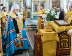 В канун Недели 12-й по Пятидесятнице митрополит Павел совершил всенощное бдение в Свято-Духовом кафедральном соборе города Минска