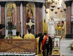 Святейший Патриарх Кирилл совершил Литургию в Никольском Морском соборе в Кронштадте