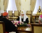 Святейший Патриарх Кирилл встретился с Государственным секретарем Святого Престола