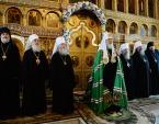 Предстоятель Русской Церкви совершил Литургию в Александро-Невском соборе Кургана