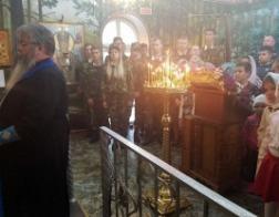 Введенский храм столицы посетили курсанты Академии МВД