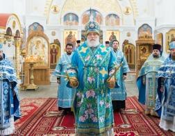В Неделю 13-ю по Пятидесятнице митрополит Павел совершил Литургию в Спасо-Евфросиниевском монастыре города Полоцка
