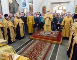 В канун Недели 14-й по Пятидесятнице митрополит Павел совершил всенощное бдение в Свято-Духовом кафедральном соборе города Минска