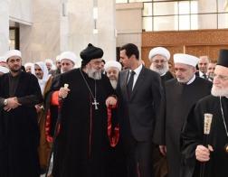 Президент Башар Асад посетил новый монастырь Святого Креста в Сирии