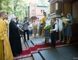 В день памяти благоверного князя Александра Невского Патриарший Экзарх совершил Литургию в Александро-Невском храме города Минска