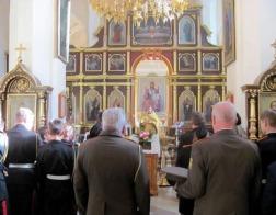 Борисоглебский храм Новогрудка посетили кадеты