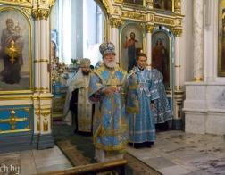 В канун праздника Рождества Пресвятой Богородицы Патриарший Экзарх совершил всенощное бдение в Свято-Духовом кафедральном соборе города Минска
