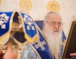 В праздник Рождества Пресвятой Богородицы митрополит Филарет совершил Литургию в домовом храме Минского епархиального управления