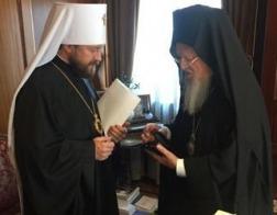 Митрополит Волоколамский Иларион встретился с Патриархом Константинопольским Варфоломеем