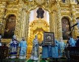 Предстоятель Русской Церкви совершил в Успенском соборе Смоленска Литургию и чин прославления Рославльских пустынножителей схимонахов Никиты и Феофана
