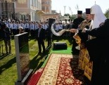 Святейший Патриарх Кирилл совершил закладку Никольского храма в Каспийском институте морского и речного транспорта в Астрахани