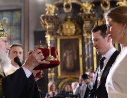 Патриарх Ириней совершил венчание принца Филиппа Карагеоргиевича и Даницы Маринкович